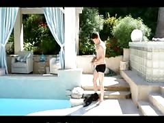 FantasyHD Teen virgin takes huge cock by the pool