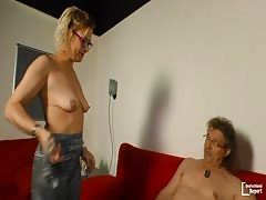 DeutschlandReport - Mature German loves the taste of cum