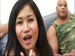 Craziest interracial gangbang with a lustful Japanese teen