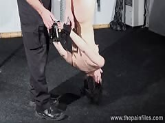 Breaking Elise Graves in hardcore bdsm and bondage swing