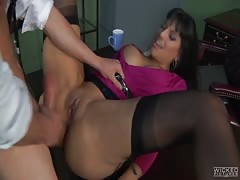 Astonishing Mercedes Carrera is being penetrated by her boss