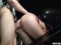 This orient slut likes to be drilled in my sport car