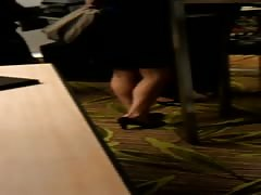 Candid Feet and Legs Shoeplay Dipping Compilation