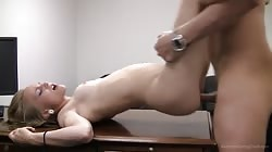 Skinny babe getting fucked in Backroom Casting Couch video