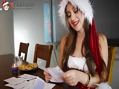 Hot Remy LaCroix is checking the letters to Santa xHamsta