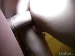 Impressive babe is being fucked in the video by Public Agent