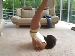 Hot Babe teach yoga gets anal fucked and squirt