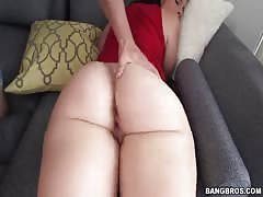 Big-ass brunette takes in her mouth in the video by Ass Parade