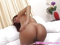 Monster cock in a petite shemale ass
