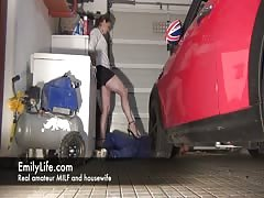 sodomy in the garage with amateur MILF