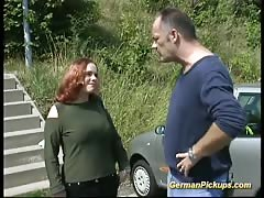 Picked up chubby german redhead for real sex
