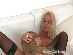 Casting Two blonde horny amateurs fuck hard part 2
